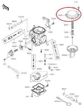 OEM Mixing Chamber Cov KLR650