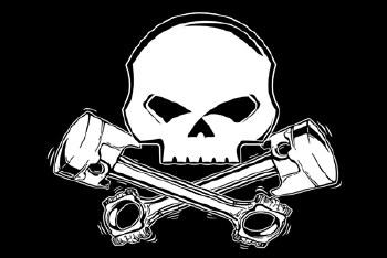 KTC Skull and Pistons Flag
