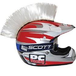 Helmet Mohawk White