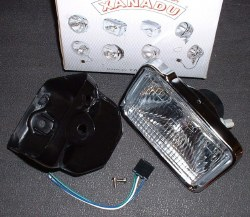 Headlight Universal Rect.