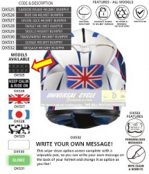 Oxford Helmet Bumper Carbon