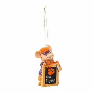 Clemson Tigers Holiday Mouse Ornament
