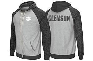 Clemson Tigers Men's Full Zip Hoodie SMALL