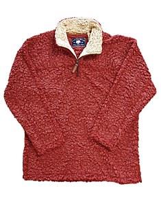 Crimson Sherpa Pullover Fleece X-LARGE