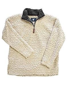 Oatmeal Sherpa Pullover Fleece X-SMALL