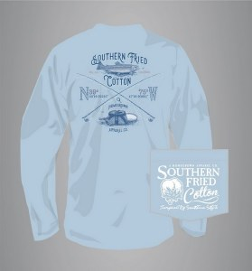 Southern Fried Cotton Fresh Water Catch Long Sleeve LARGE