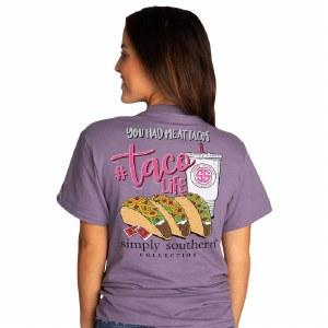 Simply Southern Taco Life T-Shirt SMALL