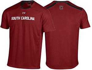 South Carolina Gamecocks 2014 Under Armour Sideline Garnet Sport Tee-MD