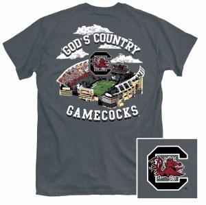 South Carolina Gamecocks God's Country T-Shirt SMALL
