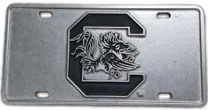 South Carolina Gamecocks Raised Logo Pewter Plate