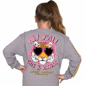 Simply Southern Kitten Youth Long Sleeve T-Shirt YTH SMALL
