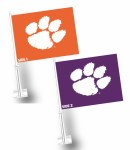 Clemson Tigers Purple/Orange Car Flag
