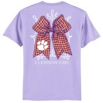 Clemson Tigers Bow T-Shirt SMALL