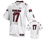 South Carolina Gamecocks #17 Thompson Jersey WHT YMD