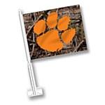 Clemson Tigers Camo Car Flag