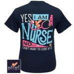 YES I am a Nurse T-Shirt MEDIUM
