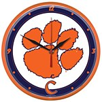 Clemson Tigers Round Clock