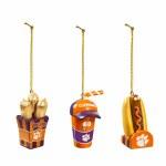 Clemson Tigers Snack Pack Ornament Set