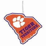 Clemson Tigers State Shape Ornament