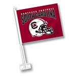 South Carolina Gamecocks Helmet Car Flag