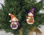 Clemson Tigers Resin Snowman Ornament