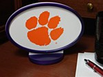 Clemson Tigers Desk Logo Art