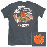 Clemson Tigers God Country T-Shirt SMALL