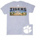 Clemson Tigers Painted Stadium T-Shirt LARGE