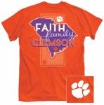 Clemson Tigers Faith, Family & Clemson T-Shirt SMALL