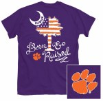Clemson Tigers Patriotic Palm T-Shirt SMALL