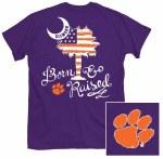 Clemson Tigers Patriotic Palm T-Shirt SMALL