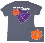 Clemson Tigers ALL Roads T-Shirt SMALL