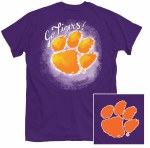 Clemson Tigers Painted Logo T-Shirt SMALL