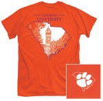 Clemson Tigers One Color State T-Shirt SMALL