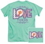 Clemson Tigers LOVE T-Shirt SMALL