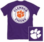 Clemson Tigers Circle T-Shirt SMALL