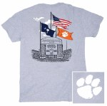 Clemson Tigers 3 Flags T-Shirt SMALL