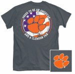 Clemson Tigers American Flag T-Shirt SMALL