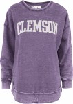 Clemson Tigers Vintage Purple Fleece Crew LARGE