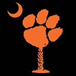 Clemson Tigers Paw Palm Decal