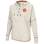Clemson Tigers Ladies Henley Hoodie SMALL