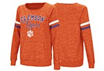 Clemson Tigers Ladies Raw Edge Pullover SMALL