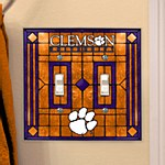 Clemson Tigers Double Light Switch Plate Cover