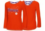 Clemson Tigers Youth Girls Camper L/S Tee YXS