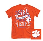 Clemson Tigers Girl In Love T-Shirt MEDIUM