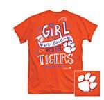 Clemson Tigers Girl In Love T-Shirt MEDIUM