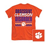 Clemson Tigers Obsessive Clemson Disorder T-Shirt SMALL