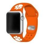 Clemson Tigers Apple ORANGE Watch Band 38/40mm