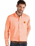 Clemson Tigers Men's Full Button Down Shirts MEDIUM