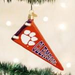 Clemson Tigers Pennant Ornament